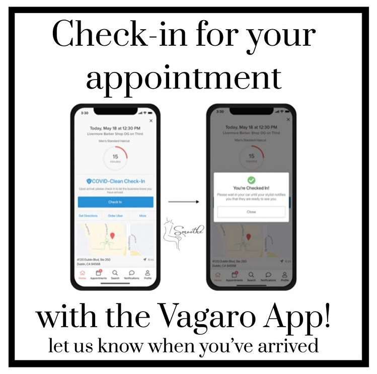 Download the Vagaro App to check into Smoothe