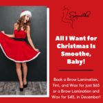 Smoothe December Special Offers on Brow Lamination in Raleigh NC